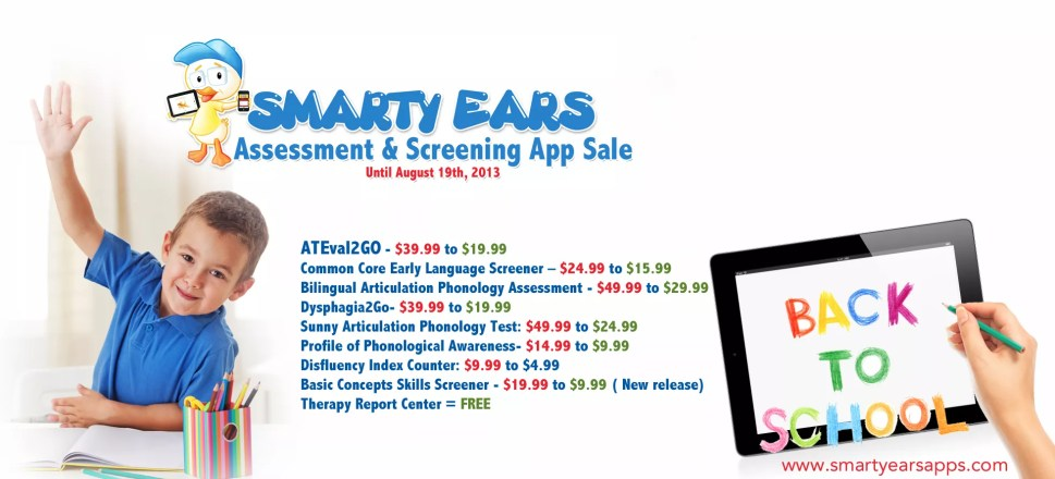 Back to School Assessment & Screening App Sale
