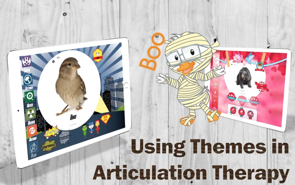 Using themes in articulation therapy