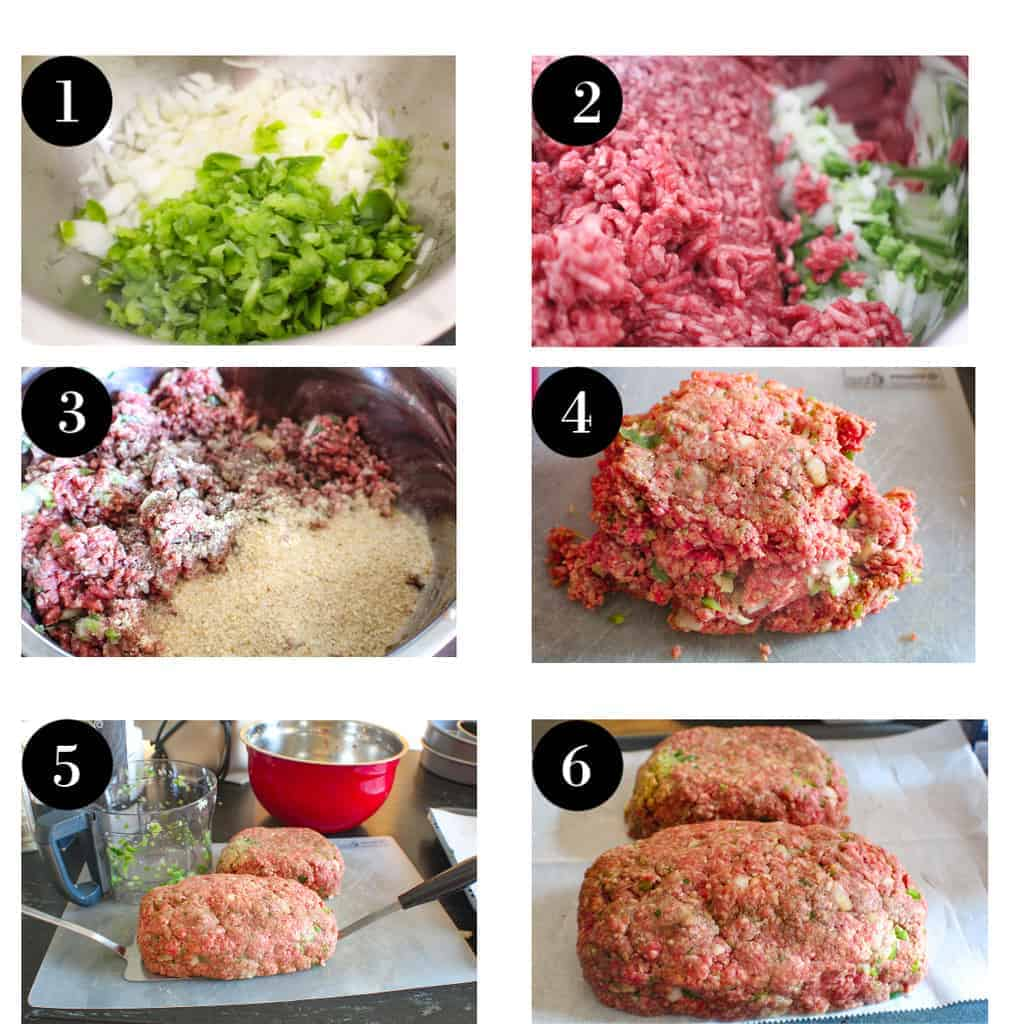 Six steps for preparing classic meatloaf