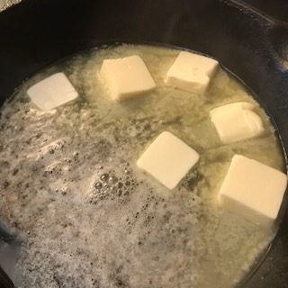 melting butter for roux