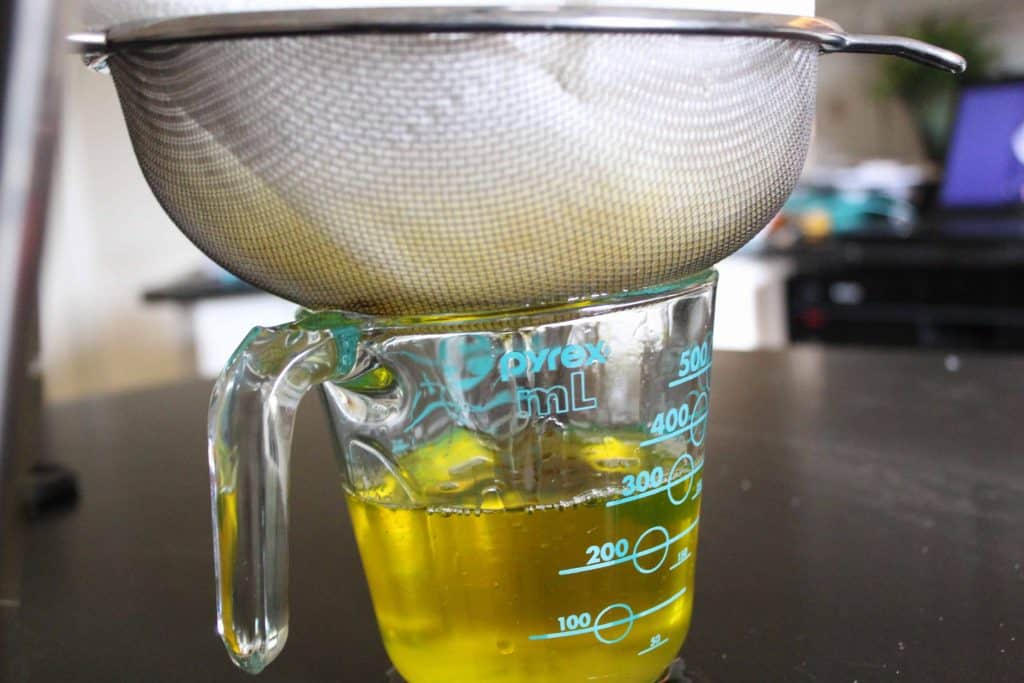Straining Clarified Butter