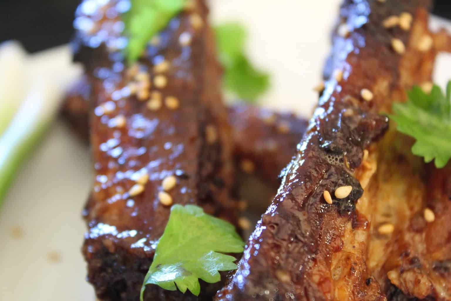 Chinese Sticky Ribs on platte.
