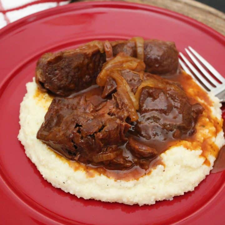 Braised Short Ribs over Gouda Cheese Grits