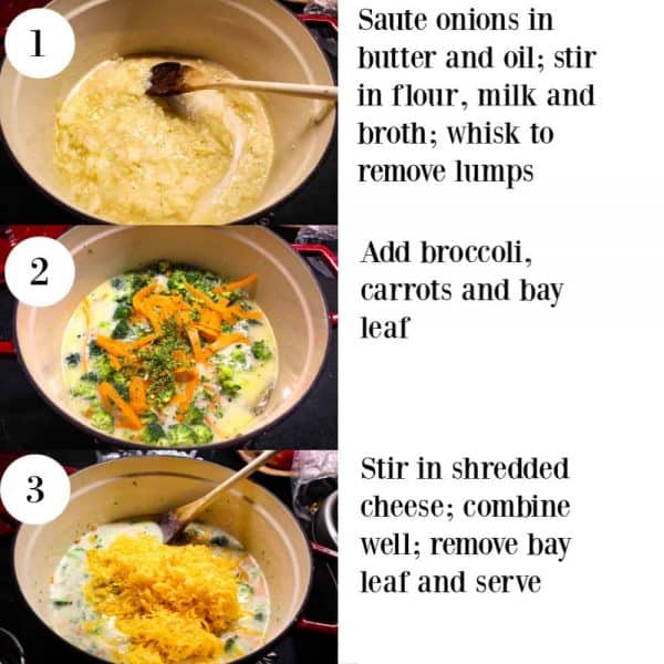 Instructions on How to make Organic broccoli cheese soup