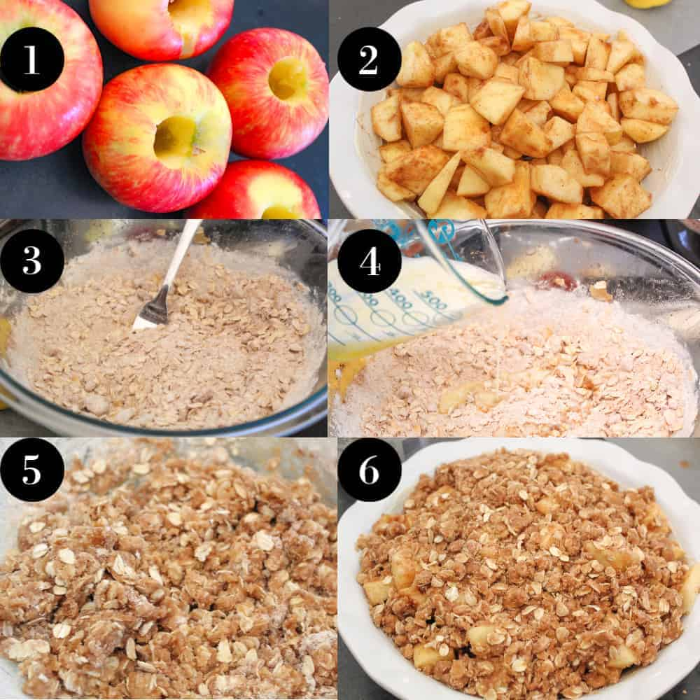 Step by Step Instructions How to make Apple Crisp