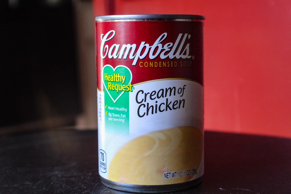 Image of a can of Campbell's cream of chicken soup