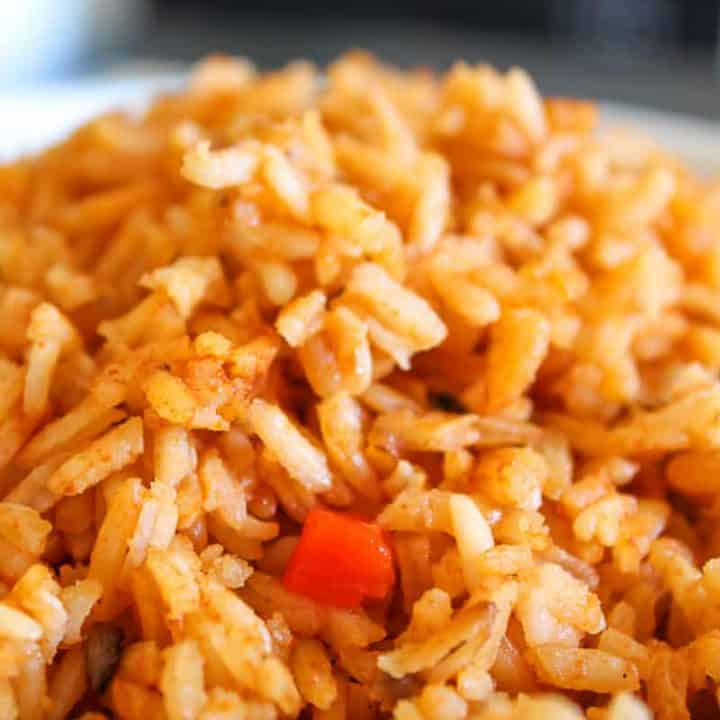Close up of Mexican rice