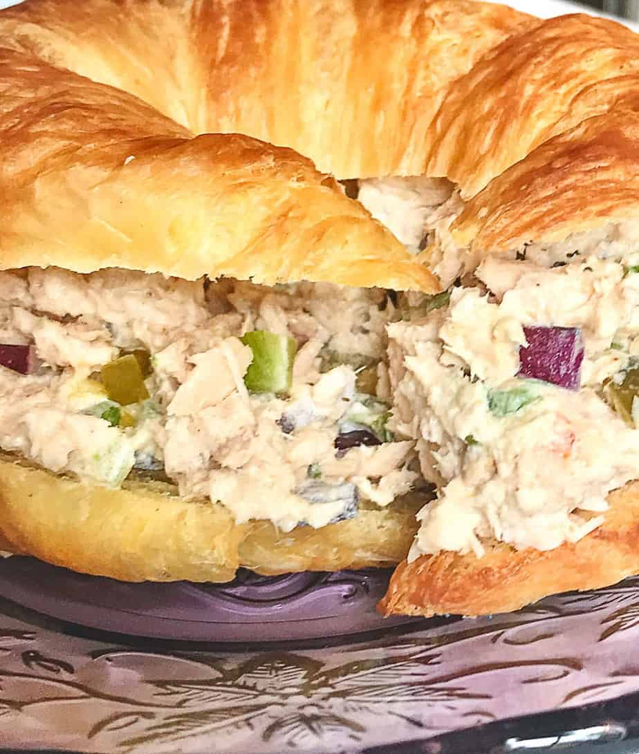 Southern Tuna Salad on croissant