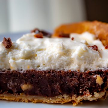 Vintage Chocolate Pie Recipe Close up
