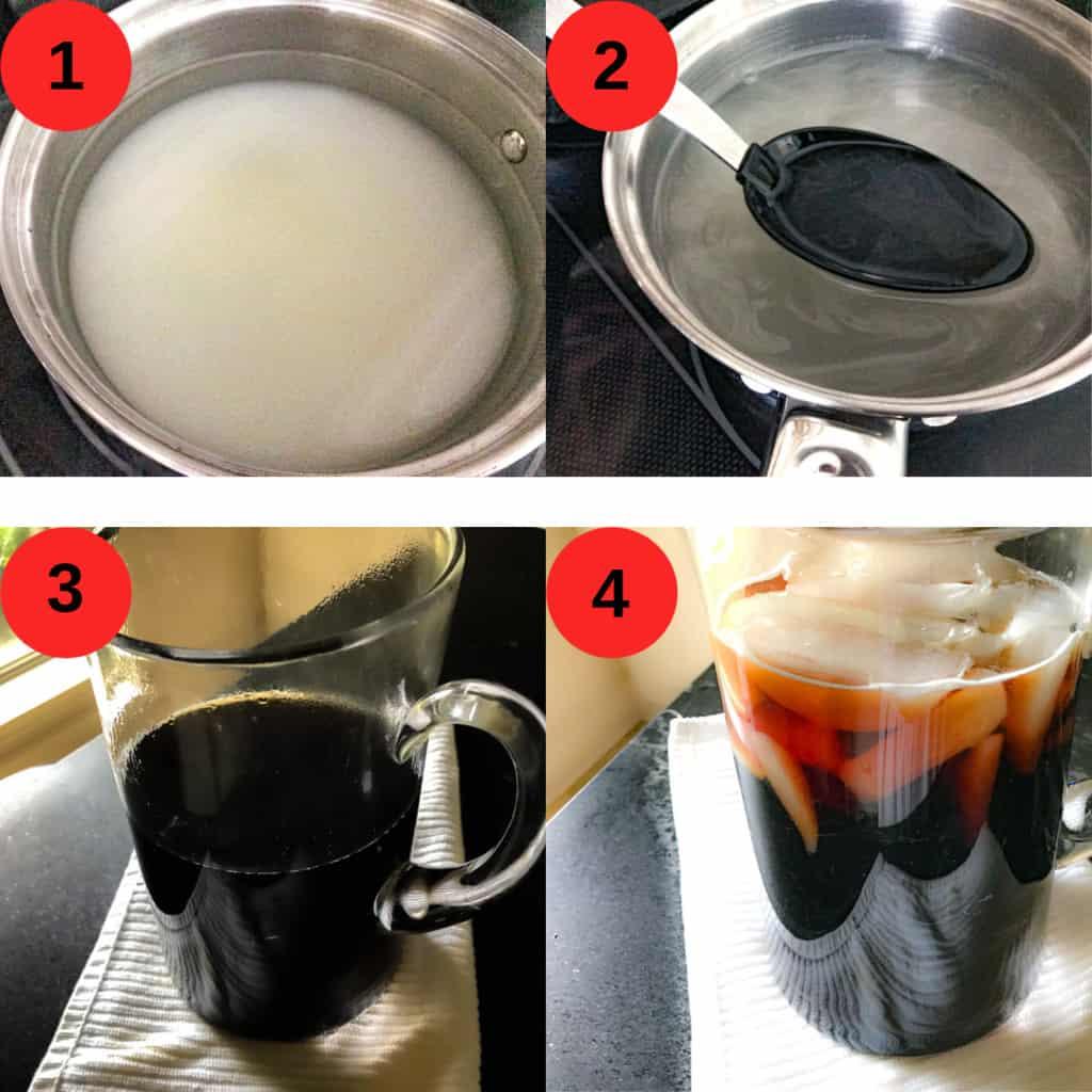 4 steps for making sweet tea