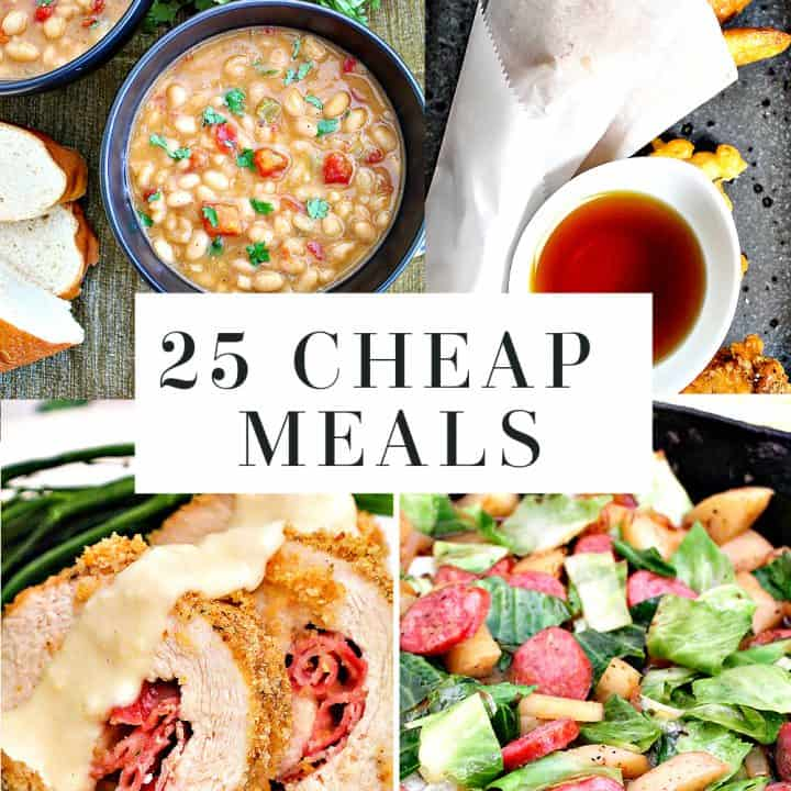 collage for 25 cheap meals