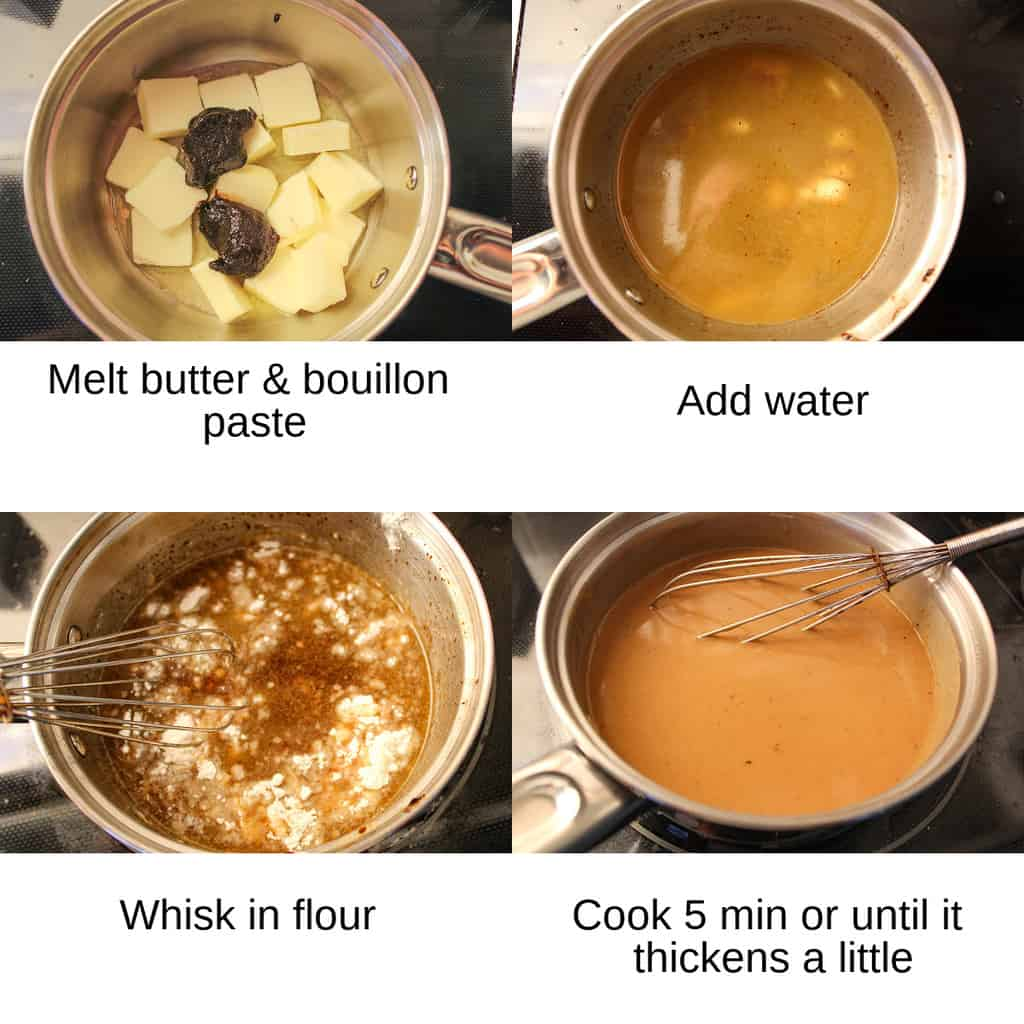 Instructions how to make brown gravy