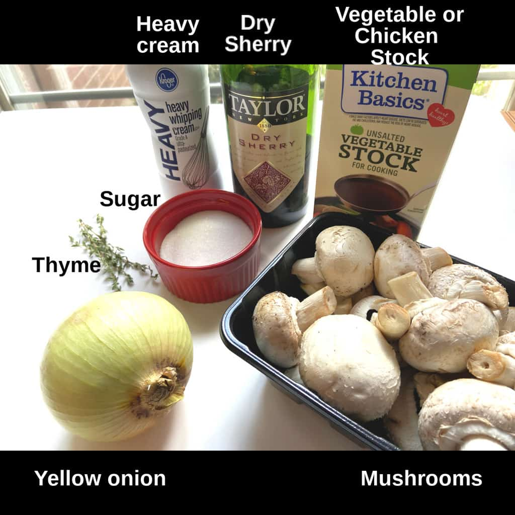 Ingredients Labeled on counter
