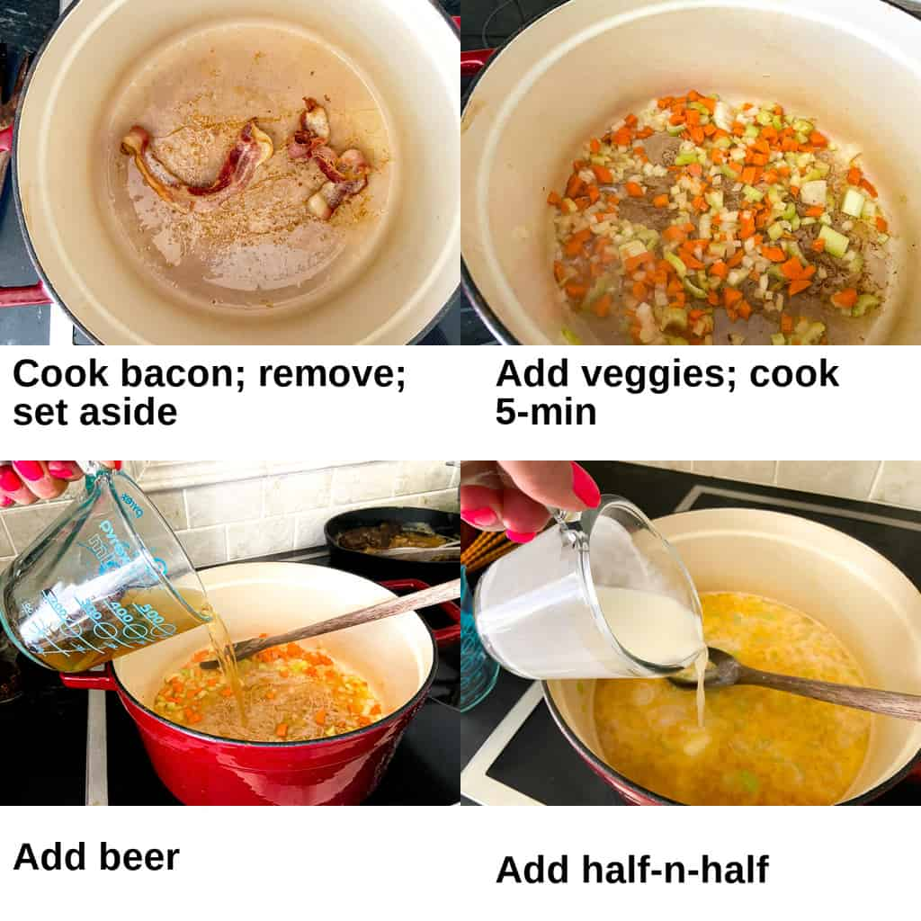 Four instruction images showing how to make it