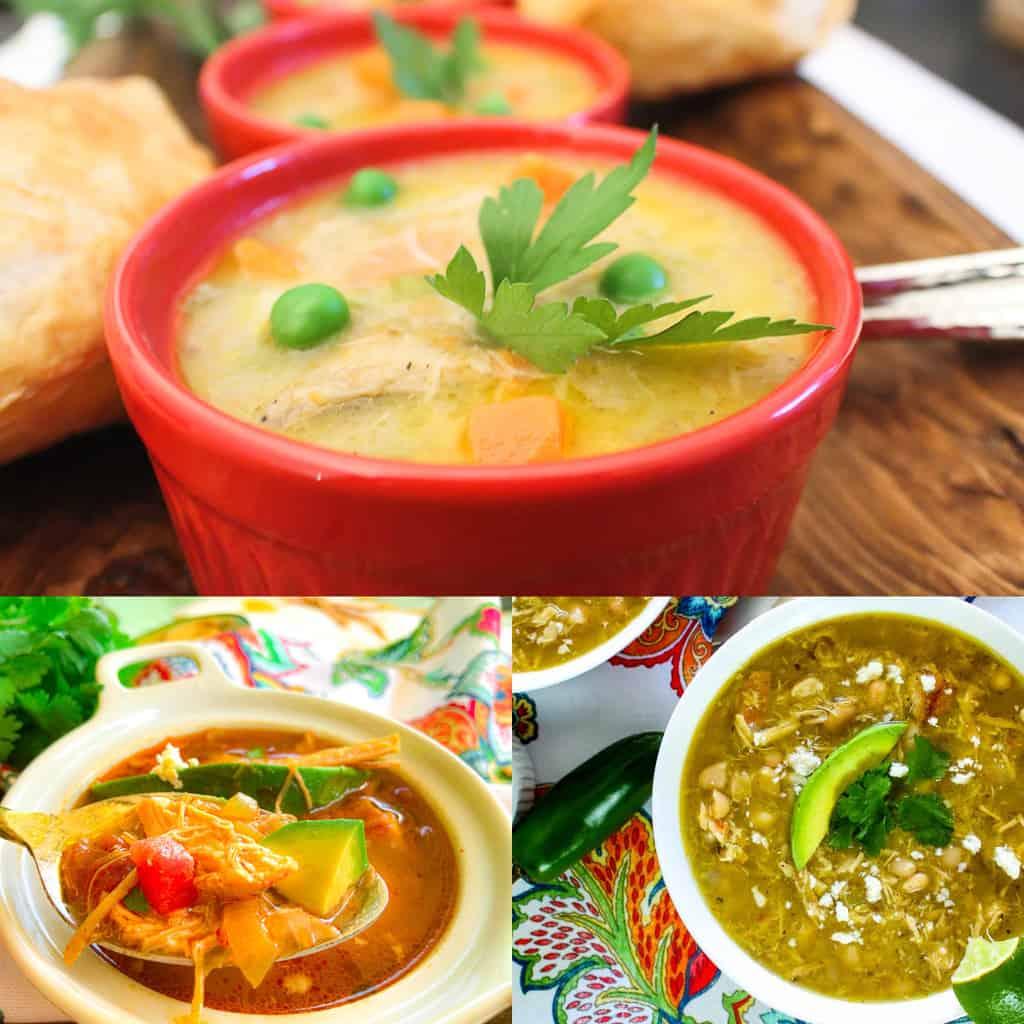 Three chicken soup recipes.