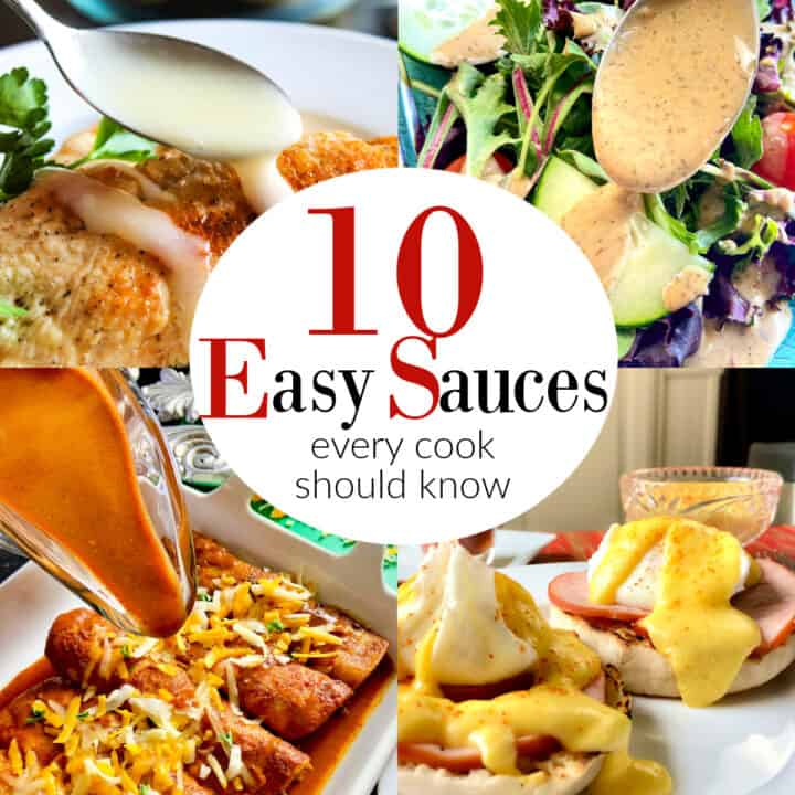 Collage of sauce recipes.