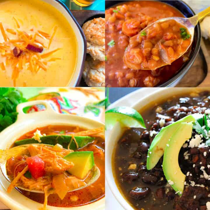 Collage of soups.