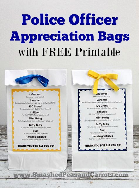 Police Officer Appreciation Bags With FREE Printable