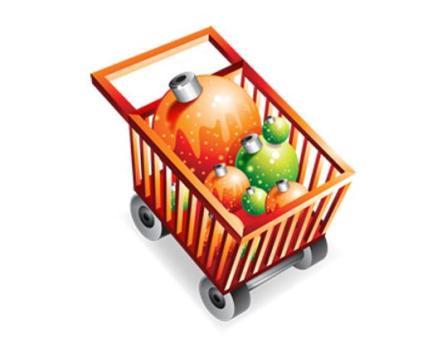 Christmas Shopping Cart Icon