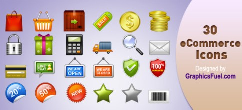 Ecommerce Icons with PSD File