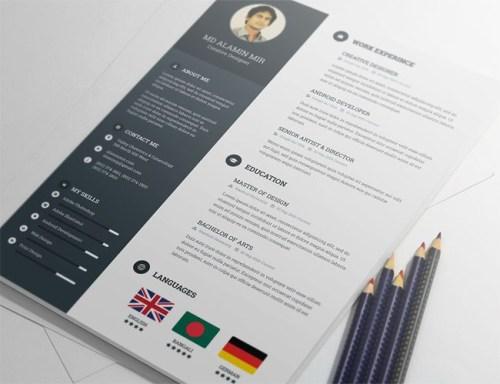 free resume template - Free Design Resume Templates