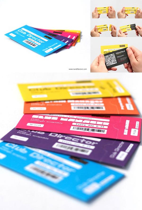 qr code business cards 01 50 Inspirational QR Code Business Cards