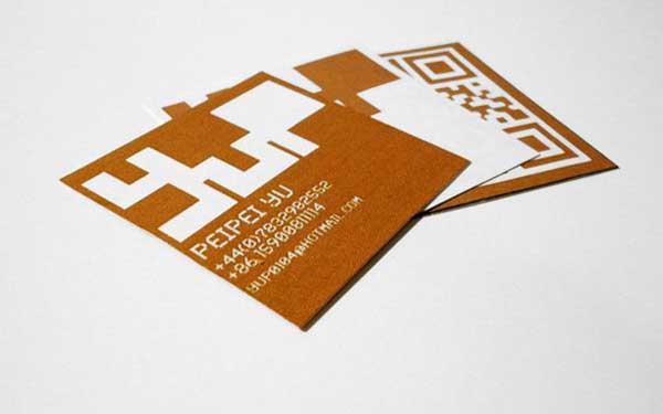 qr code business cards 02 50 Inspirational QR Code Business Cards