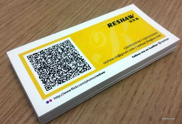 qr code business cards 29 50 Inspirational QR Code Business Cards