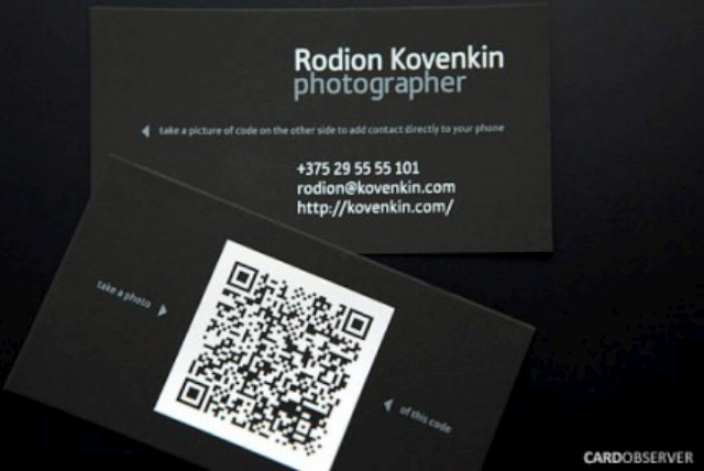 qr code business cards 41 50 Inspirational QR Code Business Cards