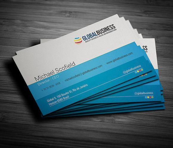 30 Inspiring Blue Business Cards