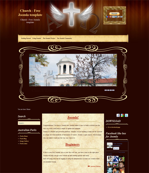5 awesome church joomla templates church is a very nice free joomla template for church website it template for joomla 25 joomla 17 an come with 3 columns leftcenterright pronofoot35fo Gallery