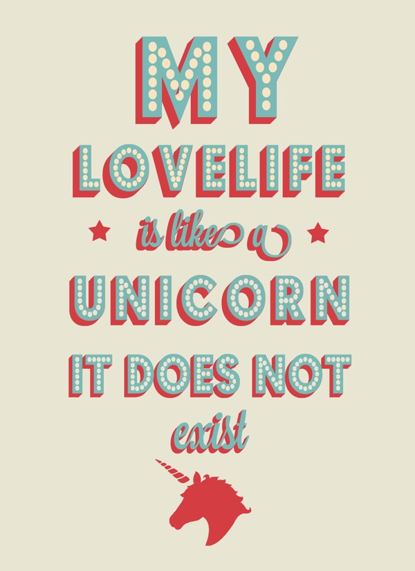 unicorn Typography Inspiration #12