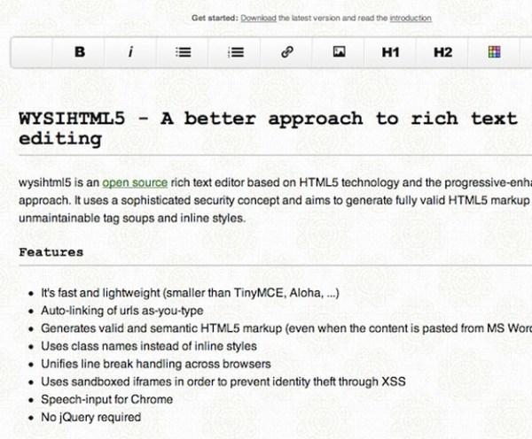 15 Powerful HTML5 Text Editor For Web developer - Smashfreakz
