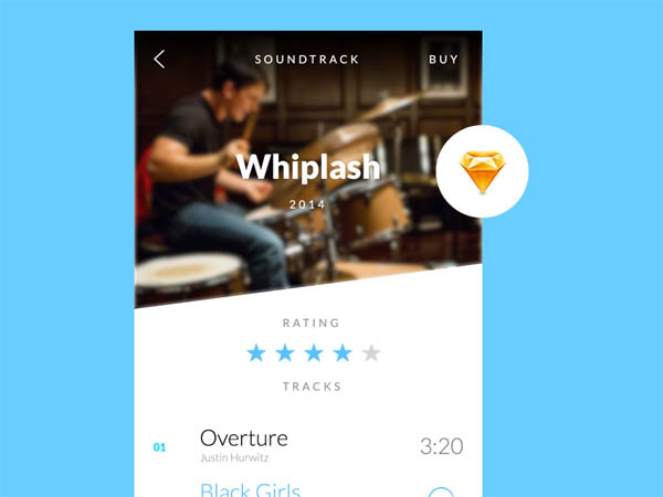Music App UI .Sketch