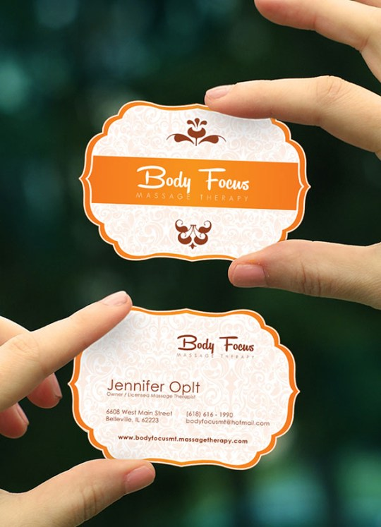 Custom-Shaped-Massage-Therapy-Business-Card