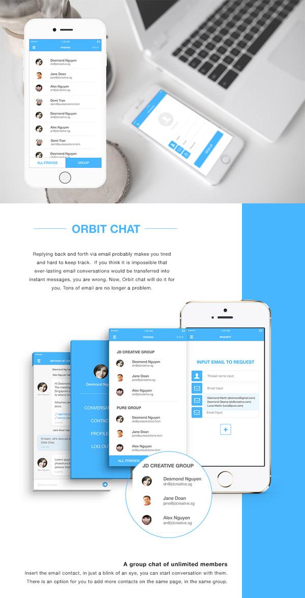 Orbit Chat app