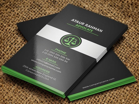 free lawyer Business Card Templates