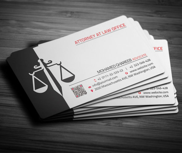 25 creative lawyer business card templates for Law business cards