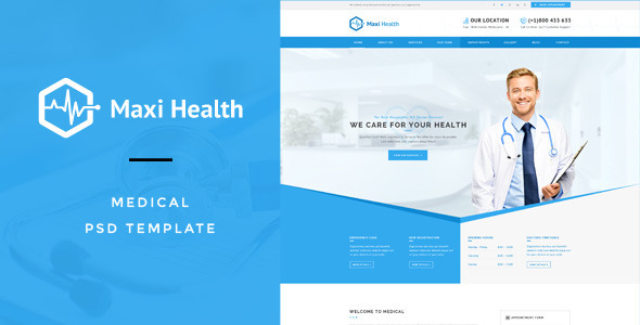 hospital PSD website templates