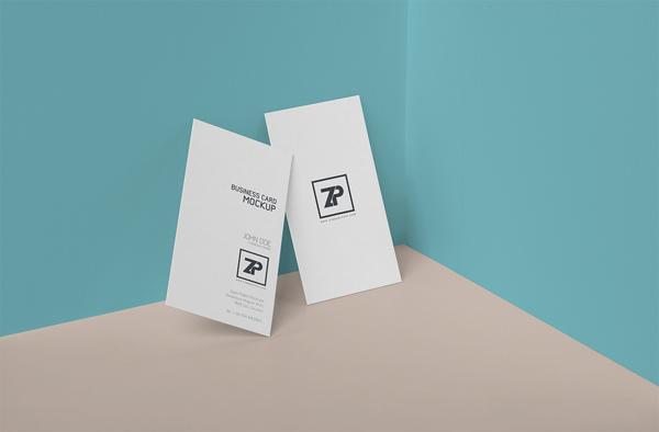 vertical business card mockup 07