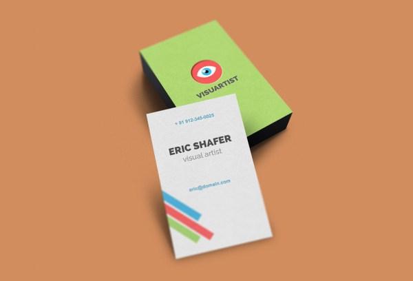 vertical business card mockup 15