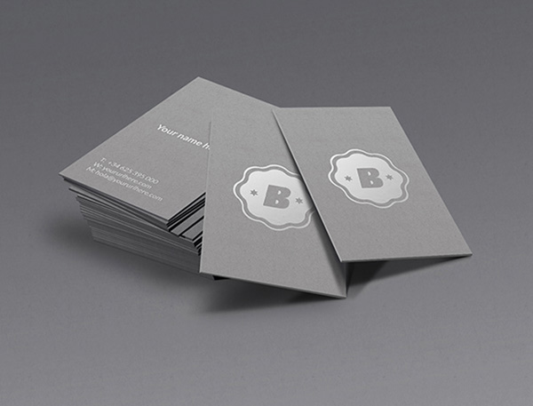 vertical business card mockup 17
