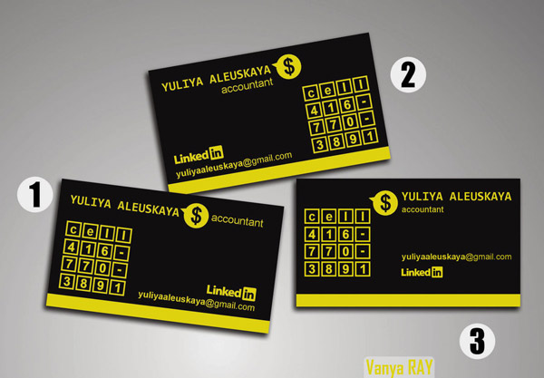 Accountant Business Card 16