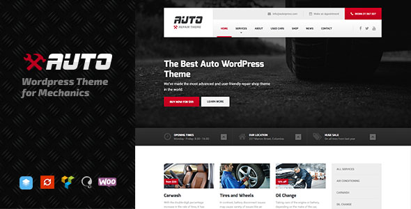 Car Dealer WordPress Theme 12