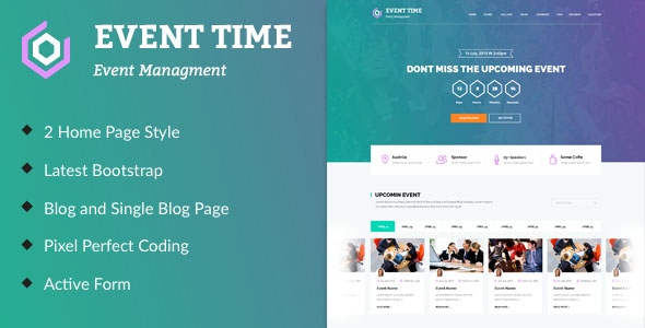 Conference Website Template 10