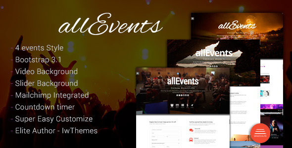 Conference Website Template 18