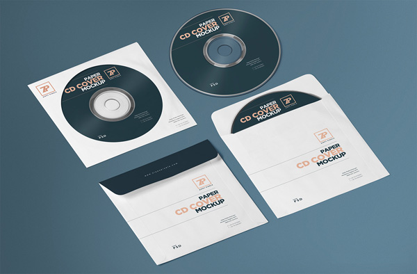 Free CD Cover Mockup PSD Template 01