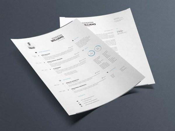 Free Minimal Resume Template 02