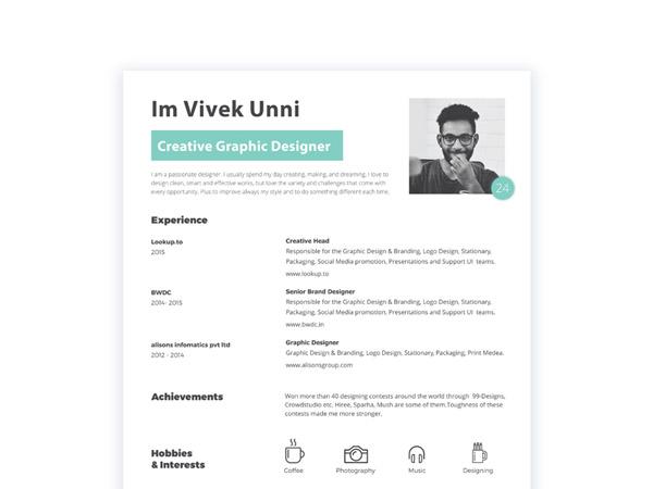 Free Minimal Resume Template 07