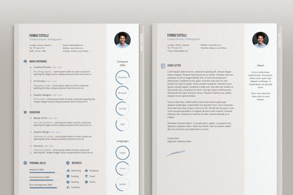 Free Minimal Resume Template 20